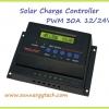 ตัวควบคุมการชาร์จแบตเตอรี่ แบบ PWM ขนาด 30A 12/24V (WLS)