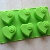แม่พิมพ์ รูปหัวใจ 6 ช่อง ขนาด 7x6.5x3.5cm
