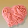 แม่พิมพ์สบู่ซิลิโคน รูปหัวใจ+ดอกกุหลาบ 60g