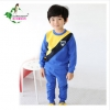 SWALLOW SPEAK ชุดเสื้อกันหนาวสีน้ำเงินคาดเหลือง+กางเกง 100/110/120/130/140