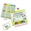 สีเทียนลบได้ CRAYON YOGOSONAI SAKURA - 24 Colors