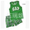 ชุดเสื้อกล้ามสกรีนลาย Gap เขียว 95 cm