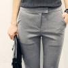 กางเกงเอวสูงสาบเอวงานสีพื้นใส่ได้ตลอดเว!! สีดำ(Black)