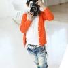 เสื้อคลุมผ้ายืดสีส้ม ใส่ได้ ทั้ง ช-ญ