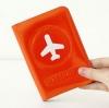 Happy Flight Passport Cover ปกพาสปอร์ต พิมพ์ลายเครื่องบิน สีแสด
