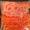 100% Silicone Loom Band รุ่นเรืองแสง(Glow in the dark )/ สีส้มสะท้อนแสง 600 เส้น(GNO)