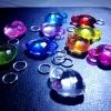 Loom Charms : หัวใจคริสตัล 10 ชิ้น