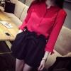 เสื้อเชิ้ตคอจีนชีฟอง korea style