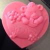 แม่พิมพ์ รูปหัวใจหมี 110g