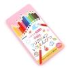 PILOT FRIXION ดินสอสีลบได้ 12 สี - กล่องชมพู