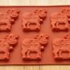 แม่พิมพ์ซิลิโคน รูปวัว 6 ช่อง