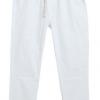 กางเกงฮาเร็ม เอวมีเชือกปรับระดับได้ สีขาว(White)