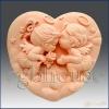 แม่พิมพ์ซิลิโคน เกรดA angel heart couple 7.5*6*3.5 cm