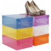 D.I.Y Transparent Plastic Shoe Boxes กล่องเก็บรองเท้าหรือของใช้อื่นๆ แบบประกอบเอง มีให้เลือกหลายสี
