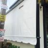 ผ้าใบ กันสาด ชักรอก ม้วนเก็บได้ ขนาด2.5ม x 2.5ม