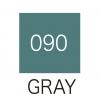 ปากกาสี 2 หัว ZIG CLEAN COLOR No.090 - Gray