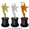 9147 ถ้วยรางวัล ดาว STAR Crystal Award