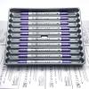 ปากกาสี 2 หัว ZIG CLEAN COLOR F - Metallic Purple