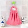 Pink Miffy velvet hand towel : ผ้าเช็ดมือแบบแขวน เนื้อผ้ากำมะหยี่ หน้ากระต่ายสีชมพู