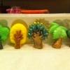 แม่พิมพ์ รูปต้นไม้ 5 ช่อง