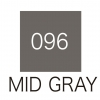 ปากกาสี 2 หัว ZIG CLEAN COLOR No.096 - Mid Gray