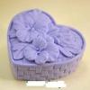 แม่พิมพ์ รูปกล่องสานรูปหัวใจ+ดอกไม้ 105g