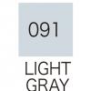 ปากกาสี 2 หัว ZIG CLEAN COLOR No.091 - Light Gray