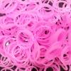 100% Silicone Loom Band สีชมพูเจลลี่ใส 600เส้น ( # 12 )
