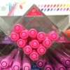 ปากกาสี 2 หัว Monami Live Color No.37 - F. Pink
