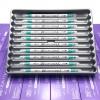 ปากกาสี 2 หัว ZIG CLEAN COLOR F No.042 - Turquoise