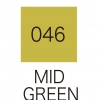 ปากกาสี 2 หัว ZIG CLEAN COLOR No.046 - Mid Green