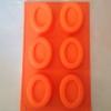 แม่พิมพ์ซิลิโคนวงรีขอบนูน 6 ช่อง 110 g..