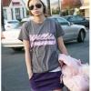 เสื้อยืดอินเทรนด์ใส่เก๋ลุคดาราเกาหลีชิวCasual Trendy