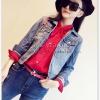เสื้อเชิ้ตชีฟอง งานสีพื้น ปกเก๋สอดเป็นโบ แมทกับอะไรก็สวยฟรุ๊งฟริ๊ง สีแดง(Red)