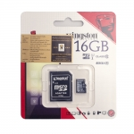 Kingston Micro SDHC Card Class 10 16GB with Adapter