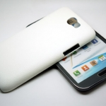 Jzzs Leather White For Samsung Galaxy Note 2