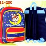 """กระเป๋านักเรียน HighSchool 14.5x11x4"""" เป้สกรีนการ์ตูน ตาข่ายข้าง"""
