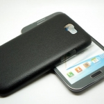 Jzzs Leather Black For Samsung Galaxy Note 2
