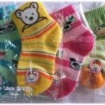 ถุงเท้าข้อสั้น คละลาย เด็กเล็ก สินค้าไทย