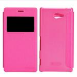 เคสฝาพับ Sony Xperia M2 Nillkin Sparkle Case - สีชมพู