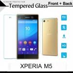 กระจกนิรภัย Xperia M5 (หน้า - หลัง) Tempered Glass Screen Protector Protective