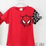 เสื้อเด็ก CISI แขนสั้น ลาย Spider man เสื้อสีแดงแขนดำ ขนาด 90-130