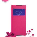 เคส Sony Xperia Z2 Nillkin Sparkle Case เคสแบบฝาผับ - สีชมพู