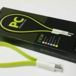 Remax Cable/Data Sync สายชาร์จสมาร์ทโฟน 23cm. Android phone MicroUSB (เขียว-Green)
