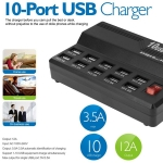 USB Fast Charger (10 Ports 5V 10A Output Max 3.5A)