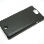 Jzzs Leather Black Case For Oppo Germini
