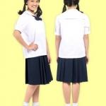 กระโปรงนักเรียนตราสมอ 6 จีบ สีกรมท่า (กรมเข้ม)