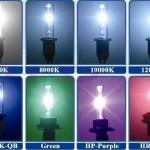 ค่าอุณหภูมิสี(K)ของแสงไฟ