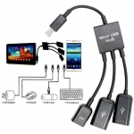 Micro USB Host OTG Hub Adapter Cable For Smartphone and Table
