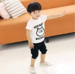 ชุดเซทเสื้อแขนสั้นสีขาว-กางเกงสีดำ